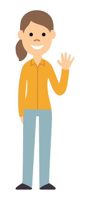 CourseKit character waving